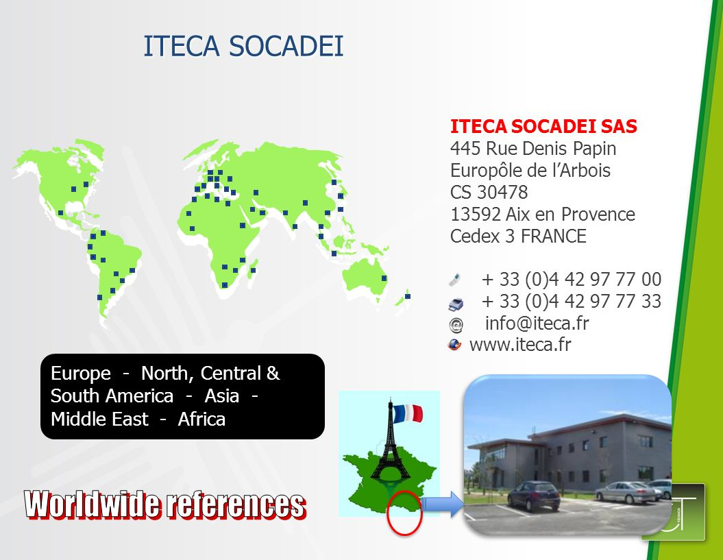 Worldwide references ITECA SOCADEI