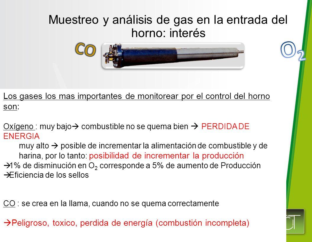 Muestreo y análisis de gas en la entrada del horno: interés