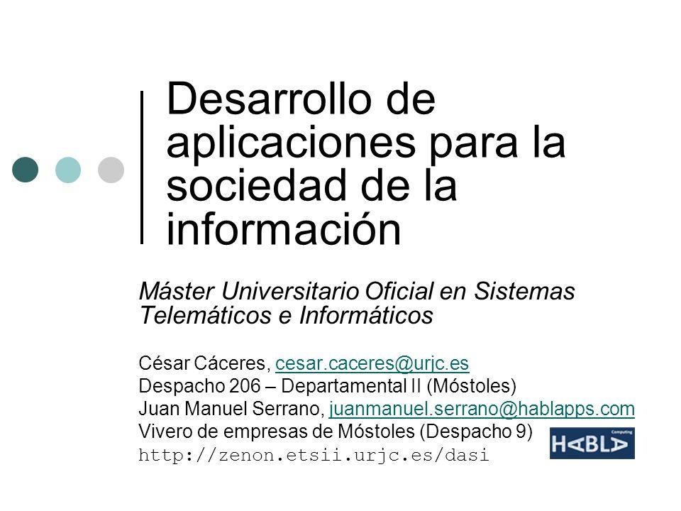 Desarrollo de aplicaciones para la sociedad de la información