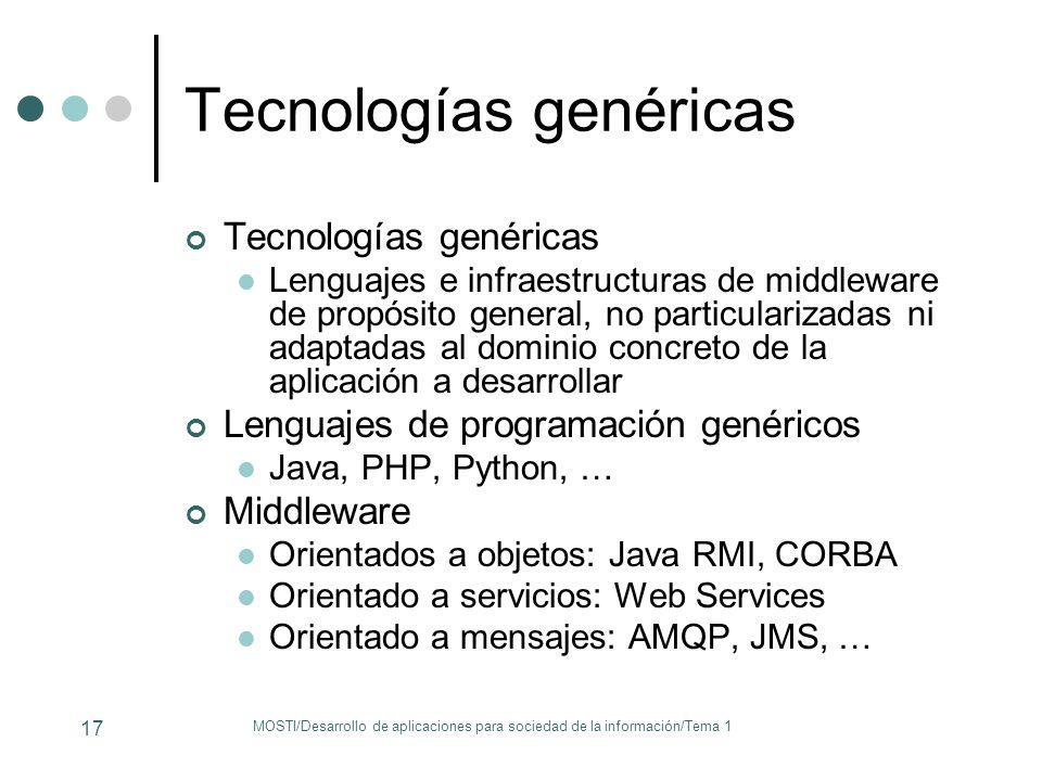 Tecnologías genéricas