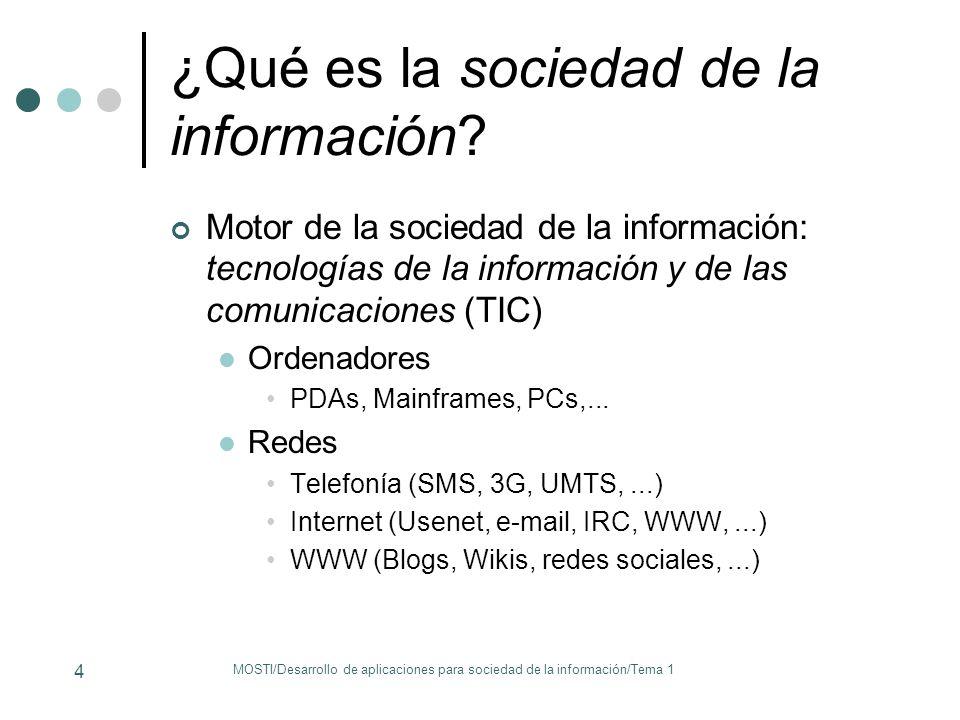 ¿Qué es la sociedad de la información