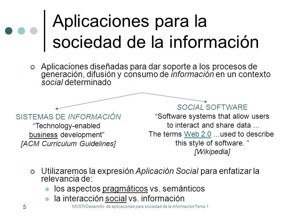 Aplicaciones para la sociedad de la información