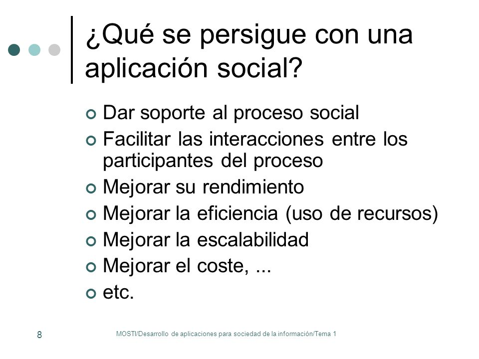 ¿Qué se persigue con una aplicación social