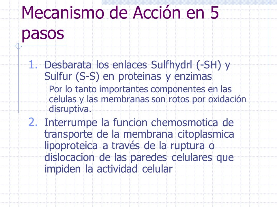 Mecanismo de Acción en 5 pasos