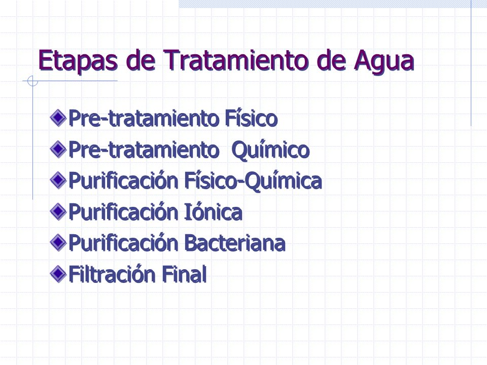 Etapas de Tratamiento de Agua