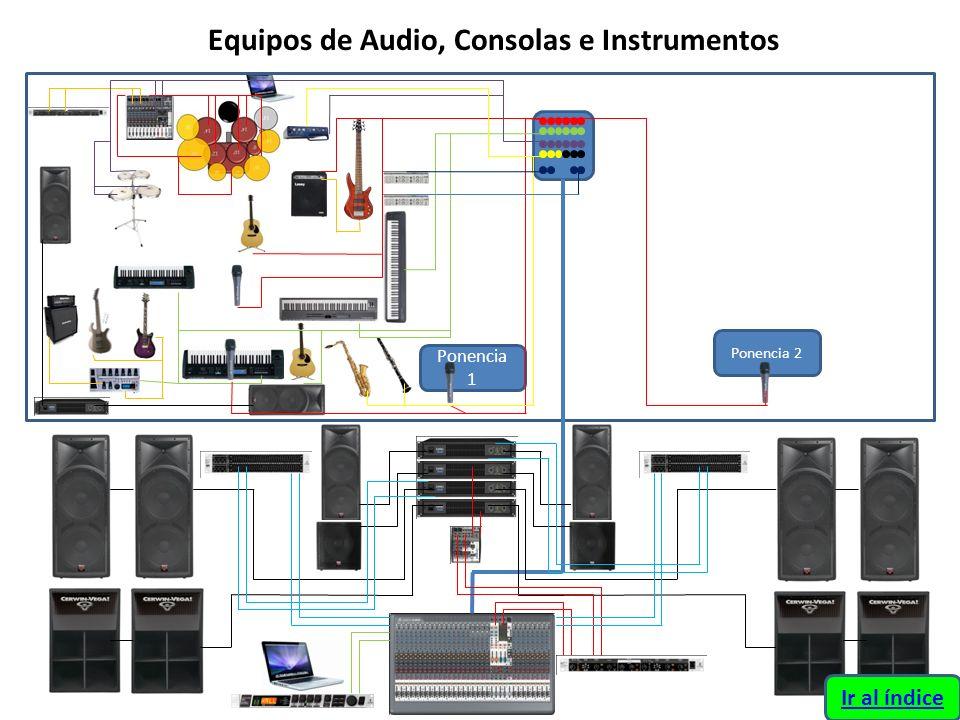 Equipos de Audio, Consolas e Instrumentos