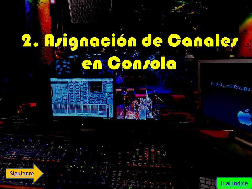 2. Asignación de Canales en Consola