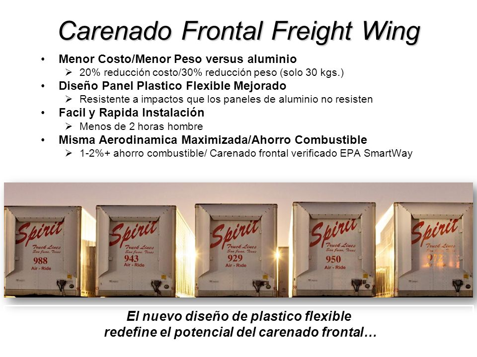 Carenado Frontal Freight Wing