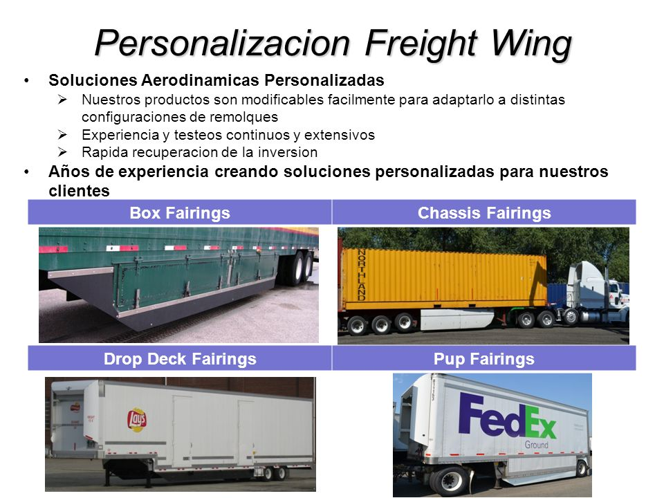 Personalizacion Freight Wing