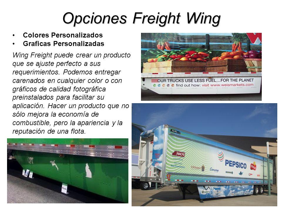 Opciones Freight Wing Colores Personalizados Graficas Personalizadas