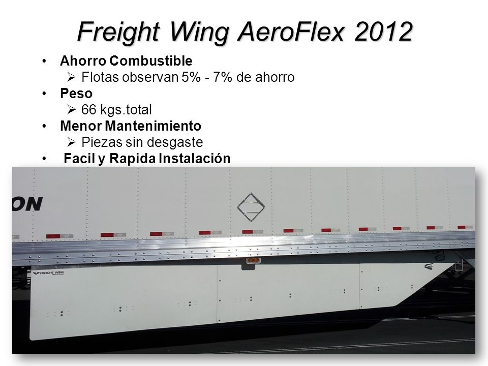 Freight Wing AeroFlex 2012 Ahorro Combustible