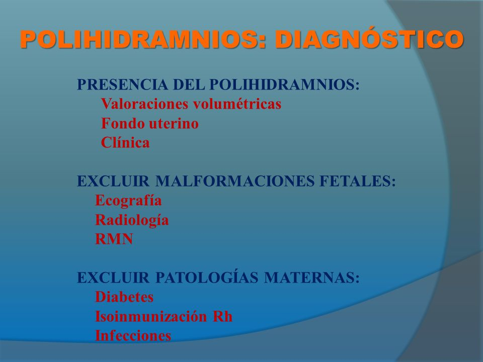 POLIHIDRAMNIOS: DIAGNÓSTICO