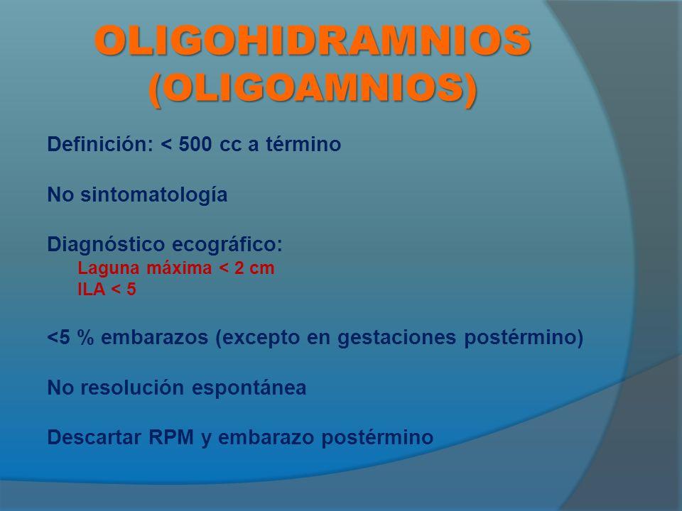 OLIGOHIDRAMNIOS (OLIGOAMNIOS)