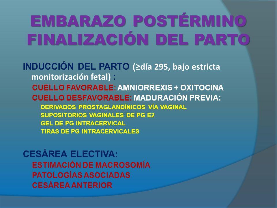 EMBARAZO POSTÉRMINO FINALIZACIÓN DEL PARTO
