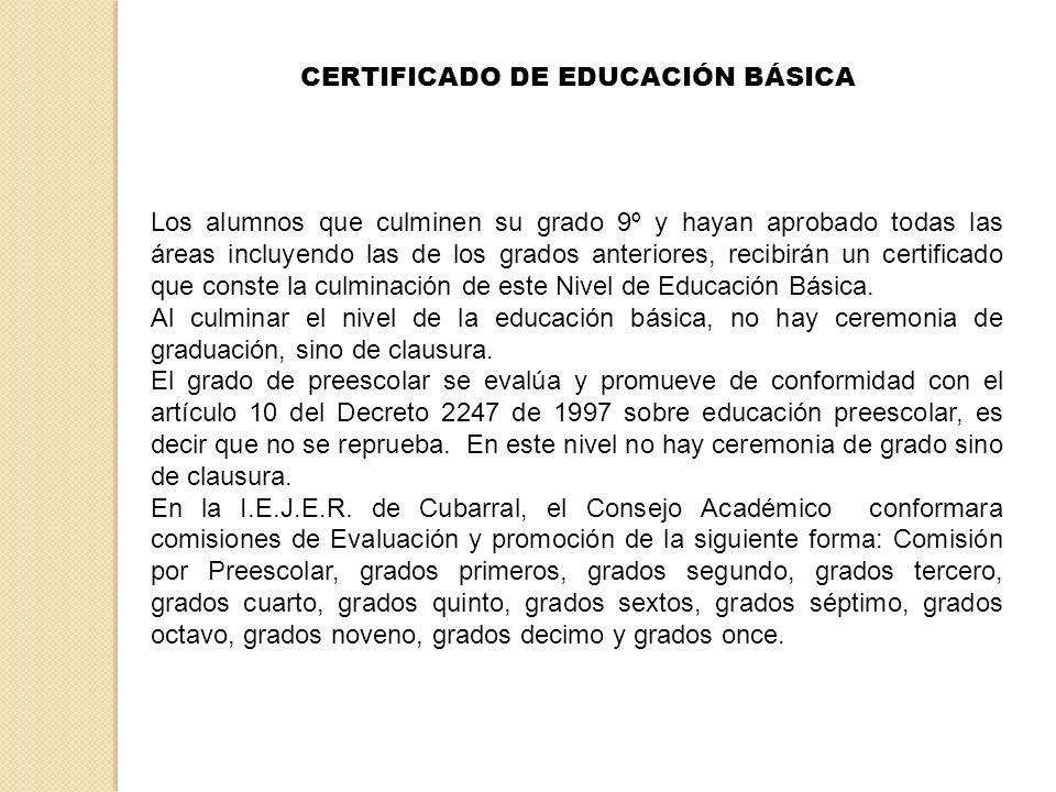 CERTIFICADO DE EDUCACIÓN BÁSICA