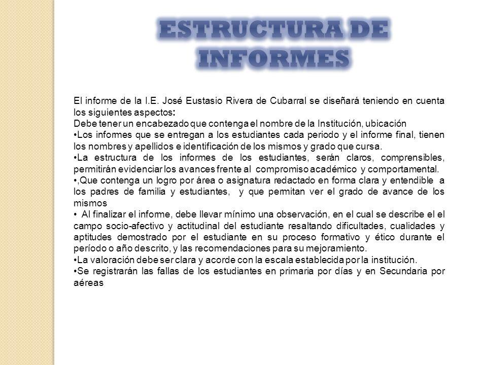 ESTRUCTURA DE INFORMES