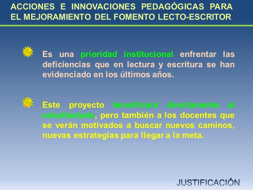 ACCIONES E INNOVACIONES PEDAGÓGICAS PARA EL MEJORAMIENTO DEL FOMENTO LECTO-ESCRITOR