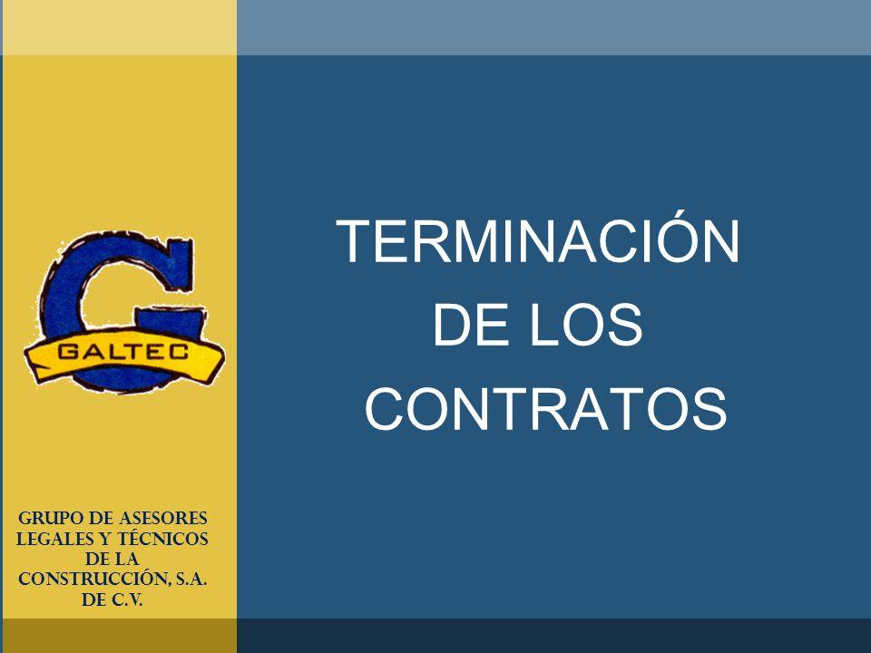 TERMINACIÓN DE LOS CONTRATOS