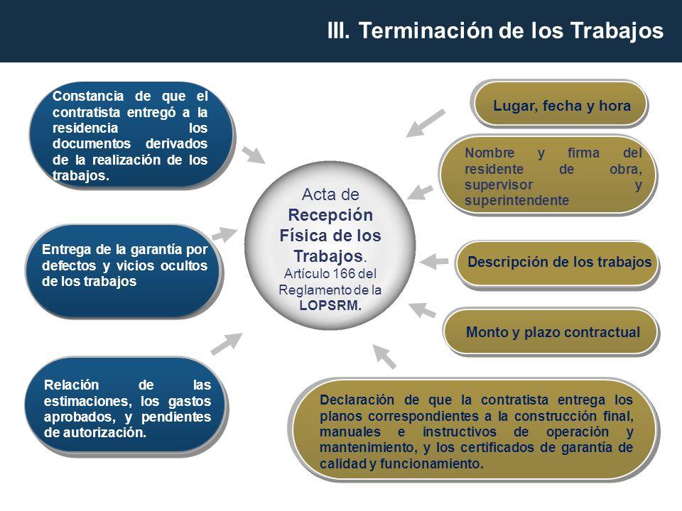 Descripción de los trabajos Monto y plazo contractual