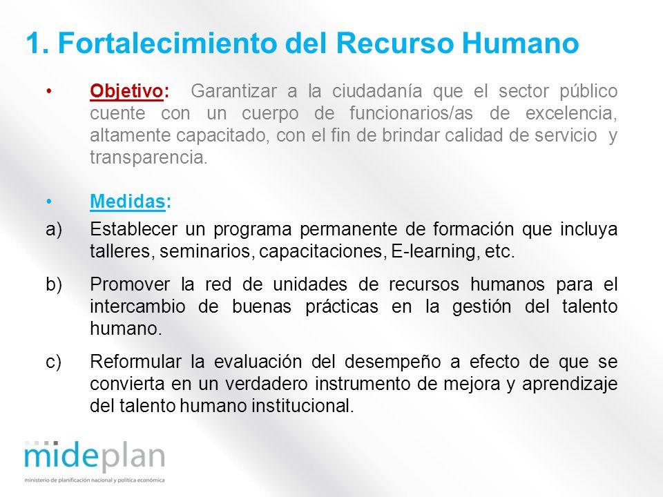 1. Fortalecimiento del Recurso Humano
