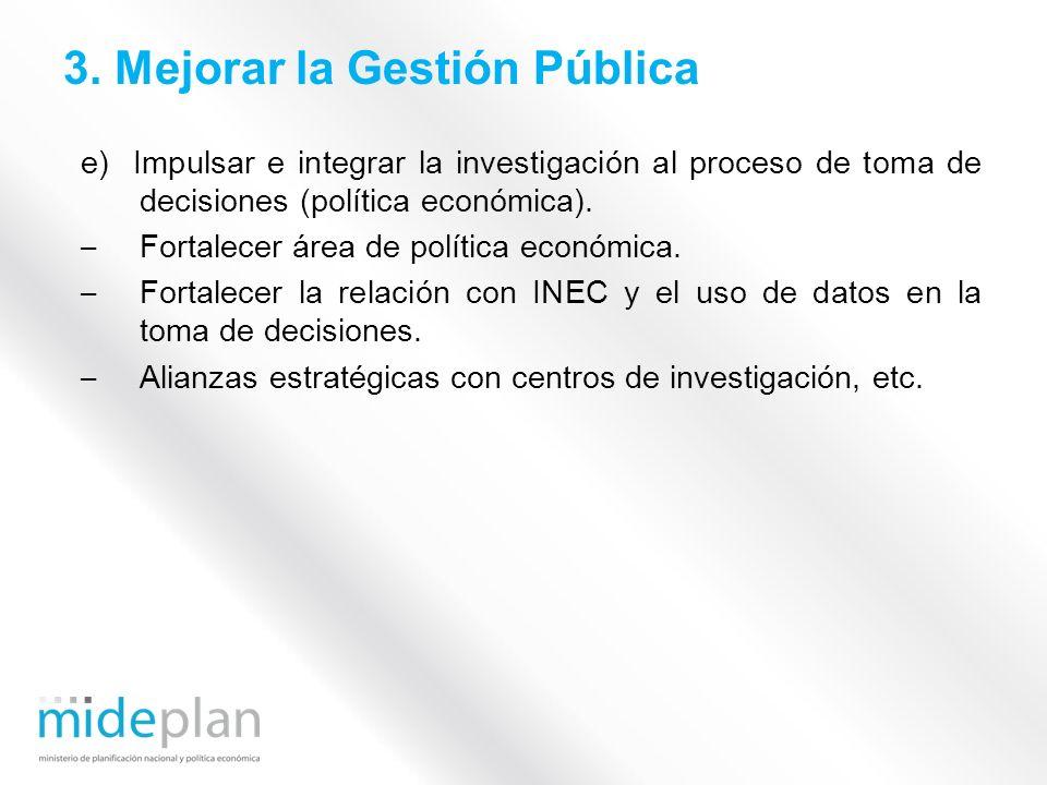 3. Mejorar la Gestión Pública