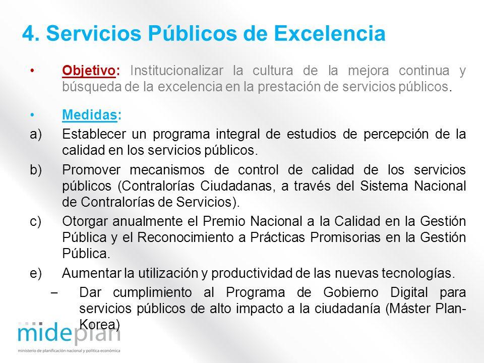 4. Servicios Públicos de Excelencia