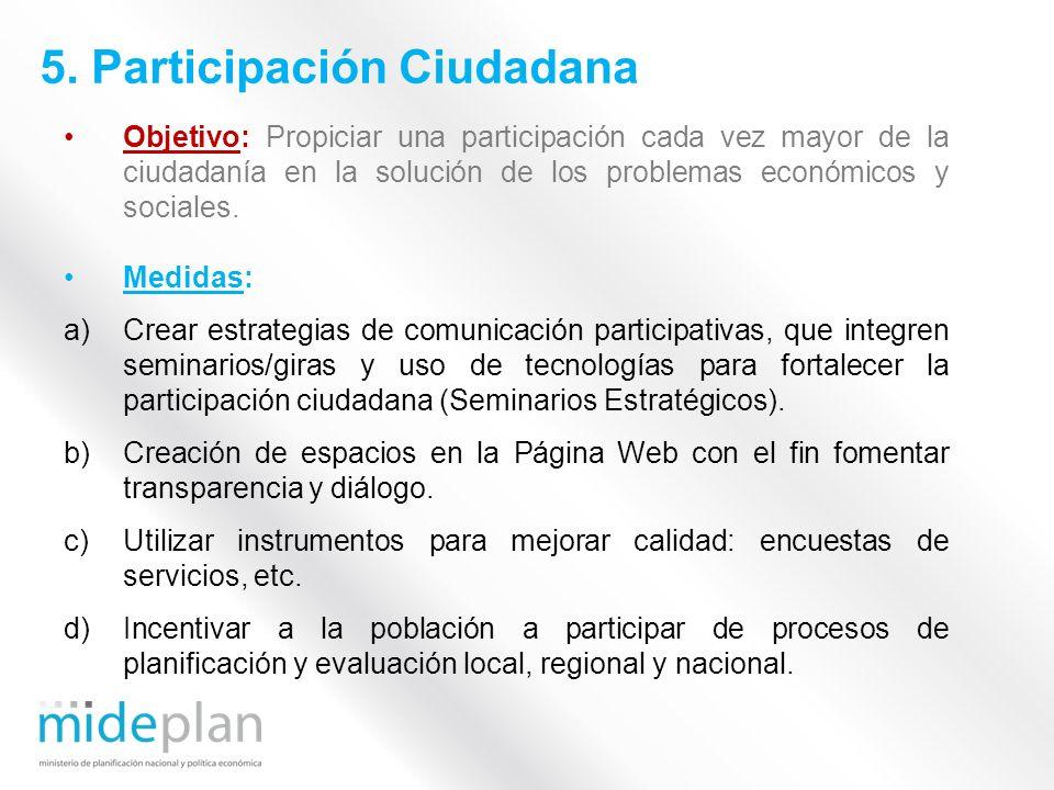 5. Participación Ciudadana