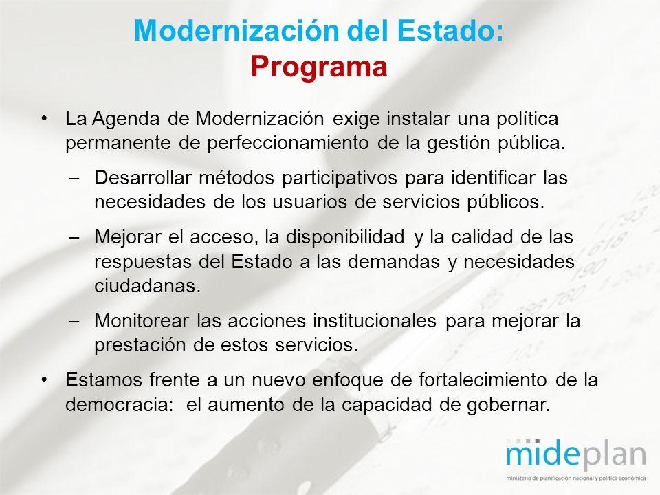 Modernización del Estado: Programa