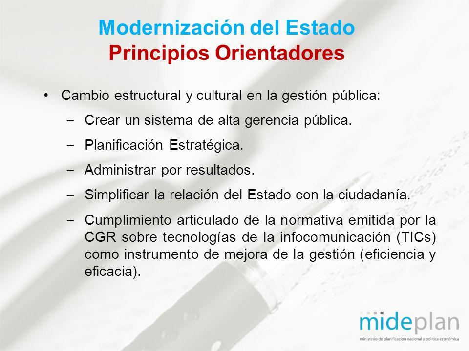 Modernización del Estado Principios Orientadores