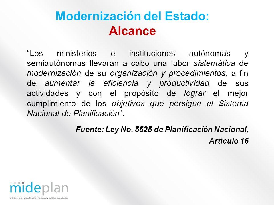 Modernización del Estado: