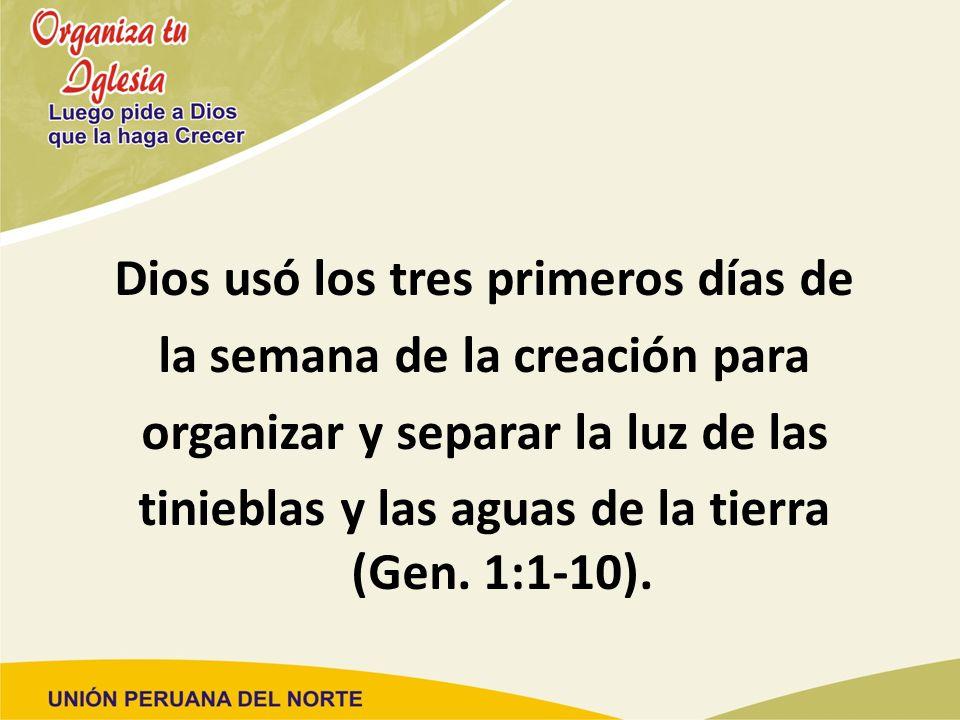 Dios usó los tres primeros días de la semana de la creación para