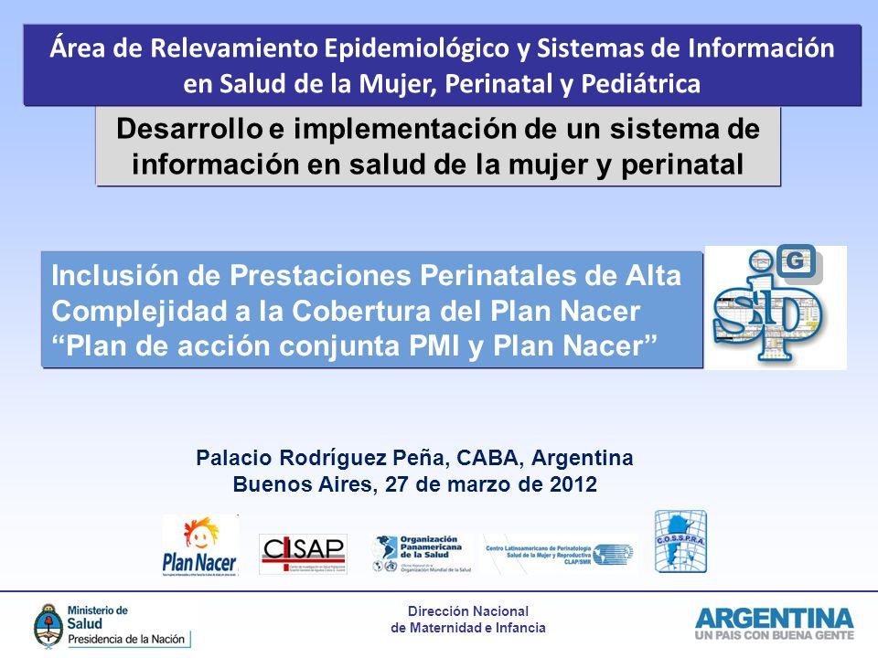 Área de Relevamiento Epidemiológico y Sistemas de Información en Salud de la Mujer, Perinatal y Pediátrica