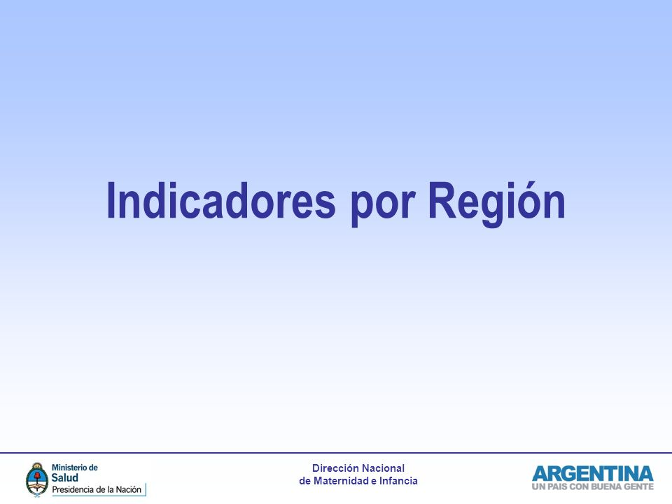 Indicadores por Región