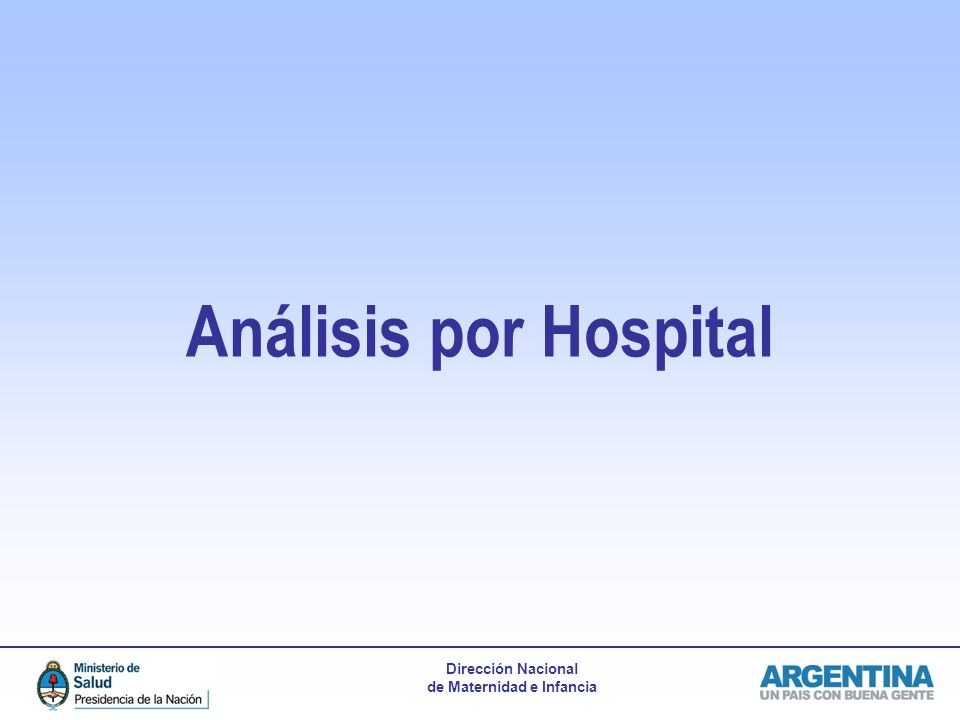 Análisis por Hospital
