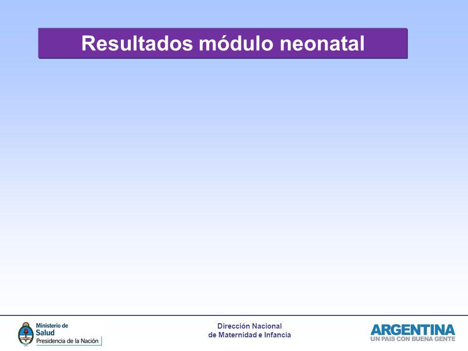 Resultados módulo neonatal