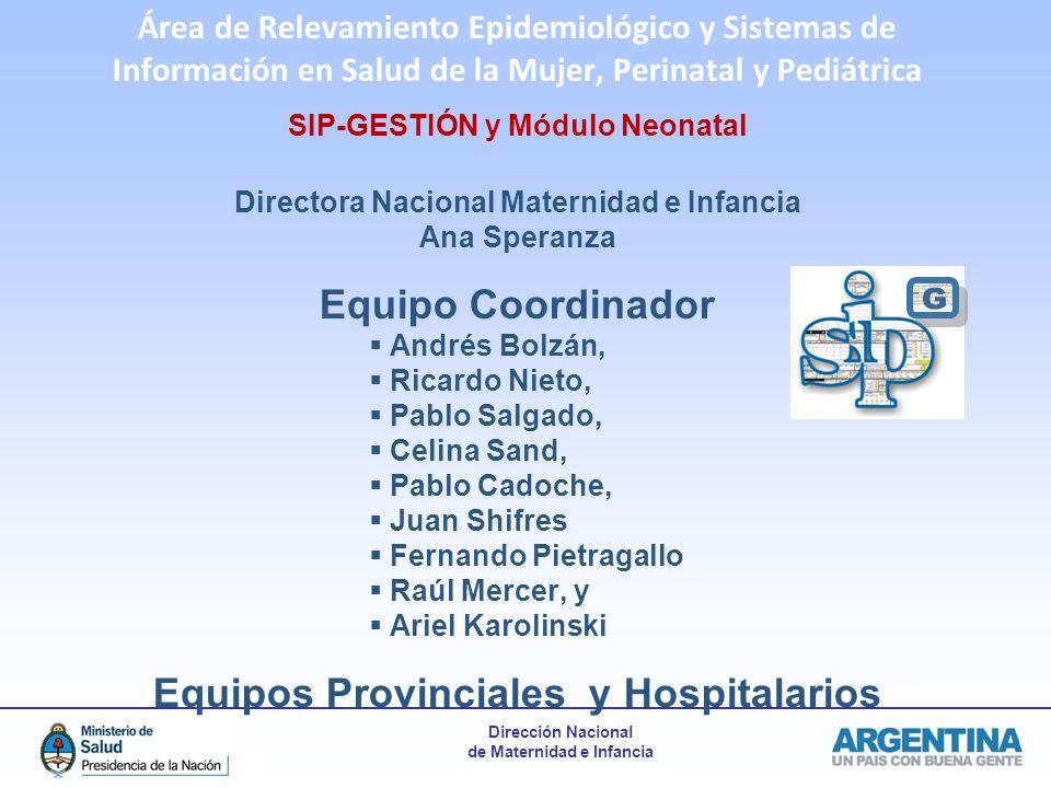 G Equipo Coordinador Equipos Provinciales y Hospitalarios