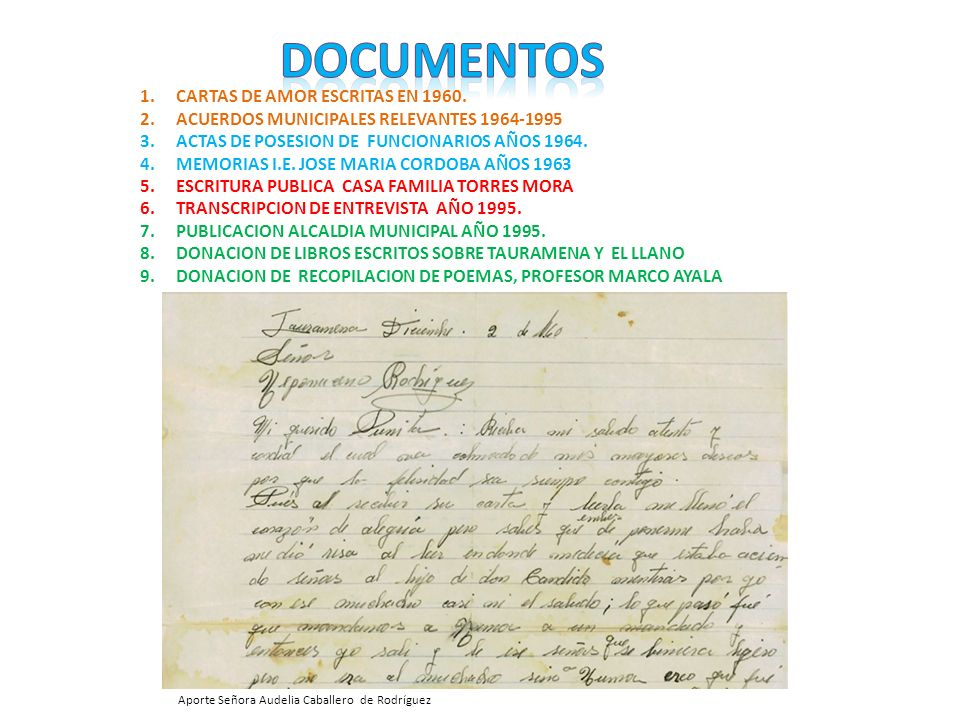 documentos CARTAS DE AMOR ESCRITAS EN 1960.