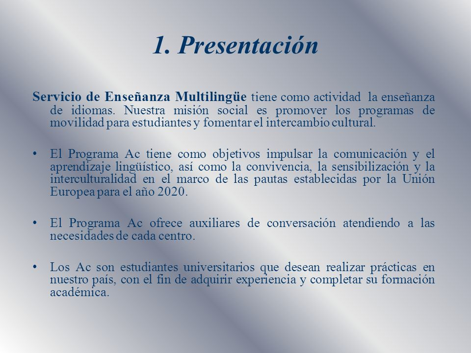 1. Presentación