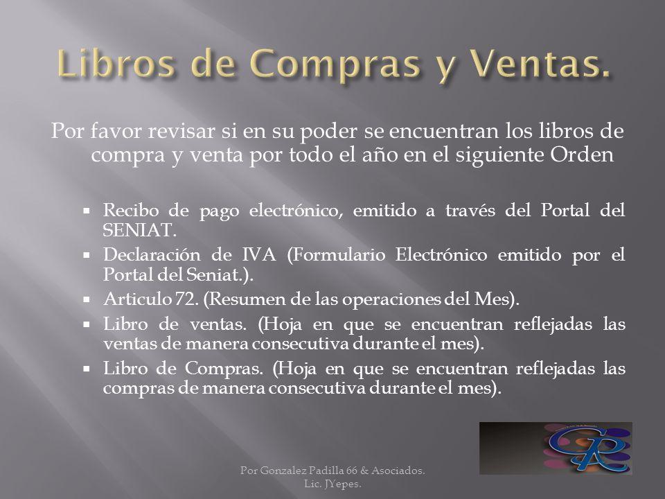 Libros de Compras y Ventas.