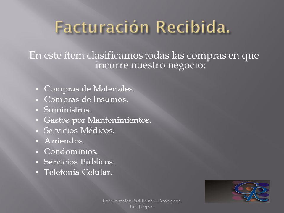 Por Gonzalez Padilla 66 & Asociados. Lic. JYepes.