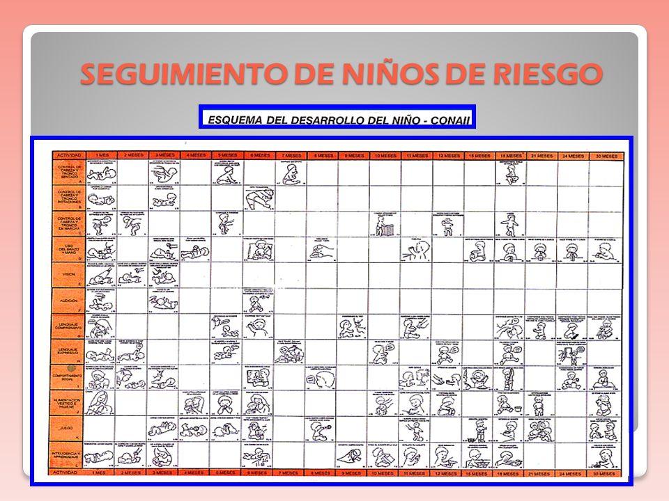 SEGUIMIENTO DE NIÑOS DE RIESGO EVALUACIÓN