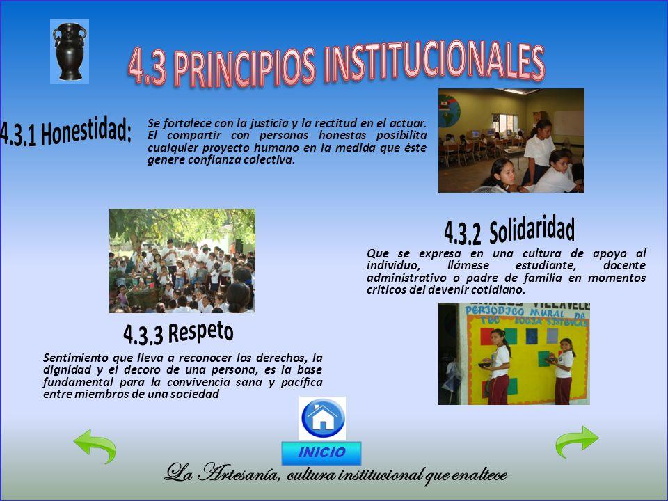 4.3 PRINCIPIOS INSTITUCIONALES