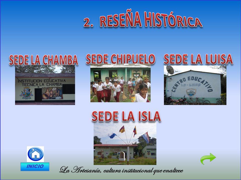 2. RESEÑA HISTÓRICA SEDE LA CHAMBA SEDE CHIPUELO SEDE LA LUISA