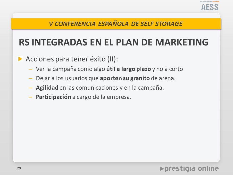 RS INTEGRADAS EN EL PLAN DE MARKETING