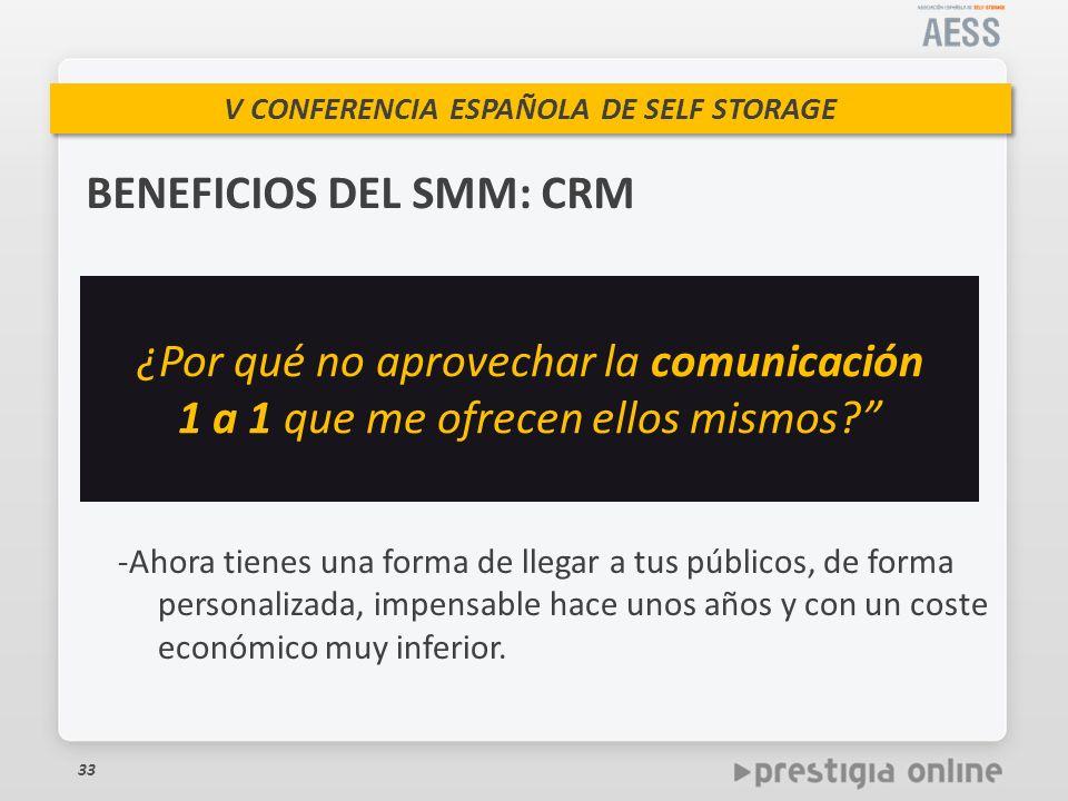 BENEFICIOS DEL SMM: CRM