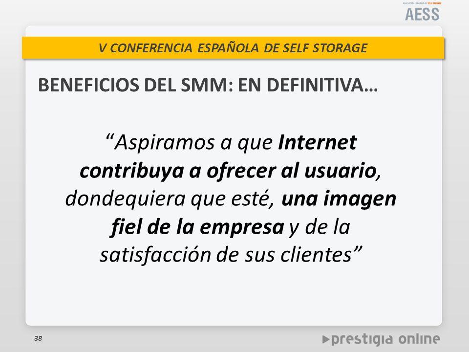 BENEFICIOS DEL SMM: EN DEFINITIVA…