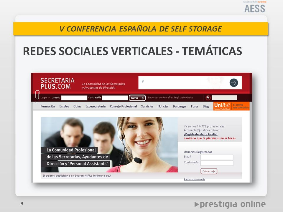 REDES SOCIALES VERTICALES - TEMÁTICAS