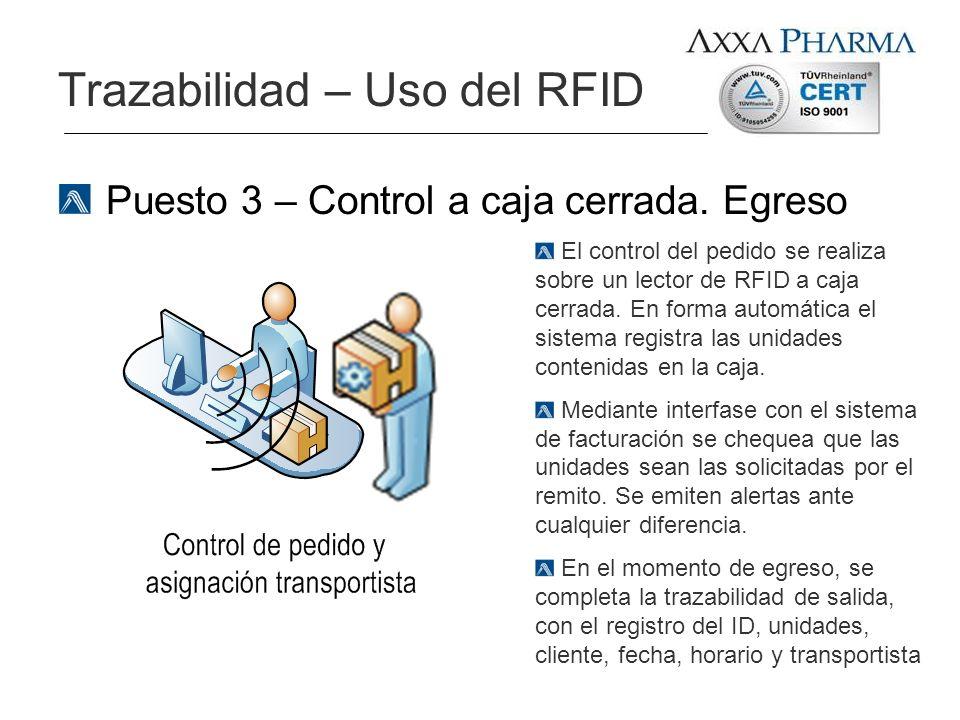 Trazabilidad – Uso del RFID