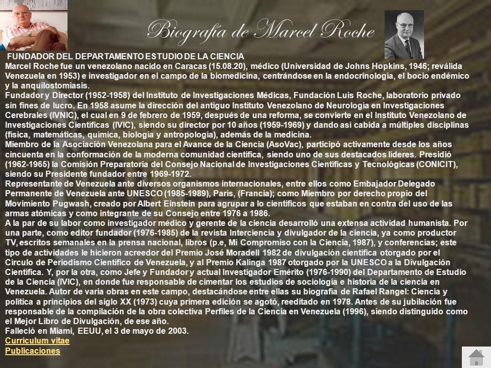 Biografía de Marcel Roche
