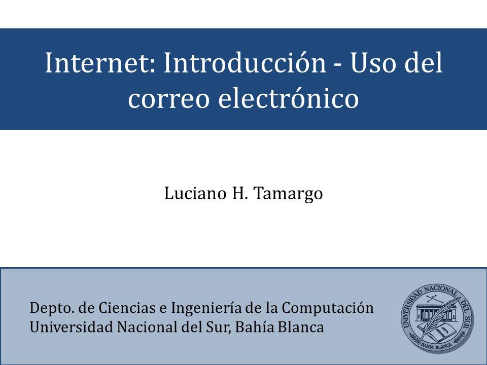 Internet: Introducción - Uso del correo electrónico